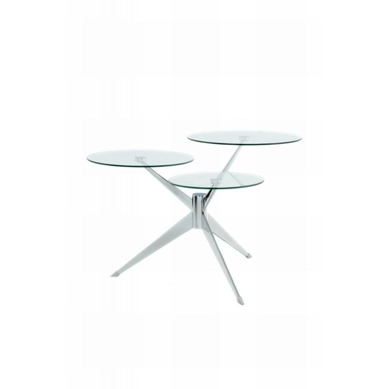 Tabella 3 vassoi, fine del divano di MARION in metallo e vetro (trasparenti, soldi) - image 42693
