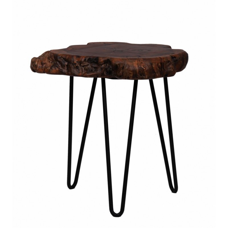 Fine tabella, tabella di estremità VESNA in metallo e legno (naturale) - image 42711