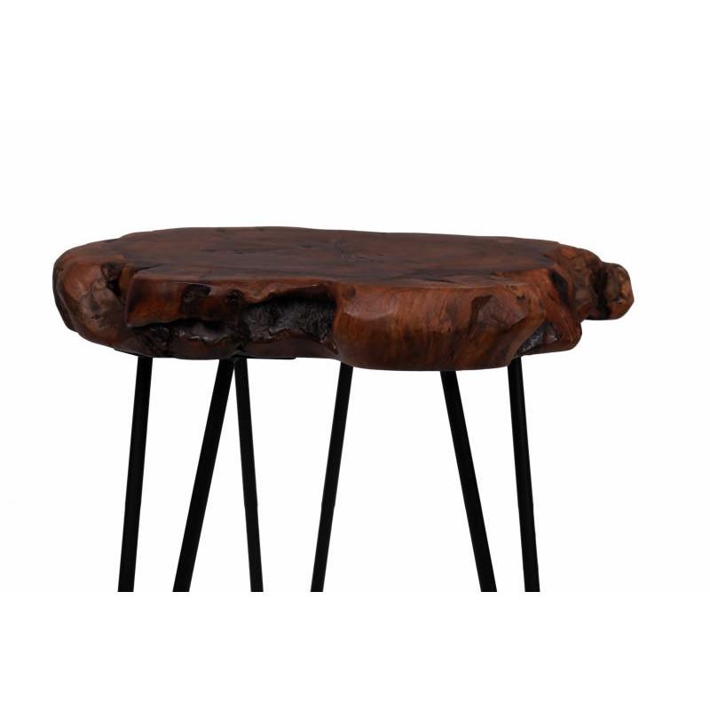 Fine tabella, tabella di estremità VESNA in metallo e legno (naturale) - image 42716