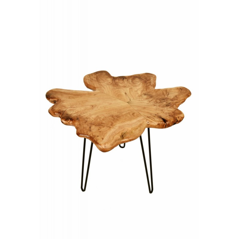 Beistelltisch, Beistelltisch ALYSSA Metall und Zeder Holz (Natur) - image 42718