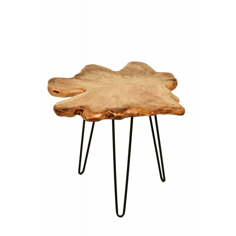 End table, end table ALYSSA metal and cedar wood (natural) - image 42719