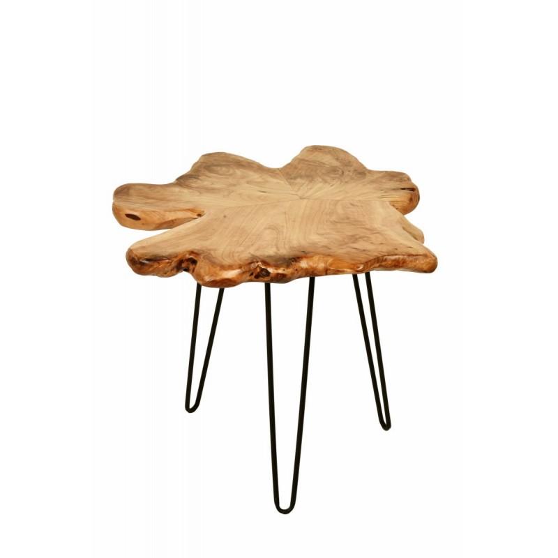 Fine tabella, tabella di estremità ALYSSA metallo e legno di cedro (naturale) - image 42719