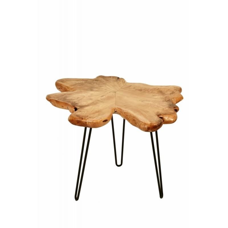 Beistelltisch, Beistelltisch ALYSSA Metall und Zeder Holz (Natur) - image 42720