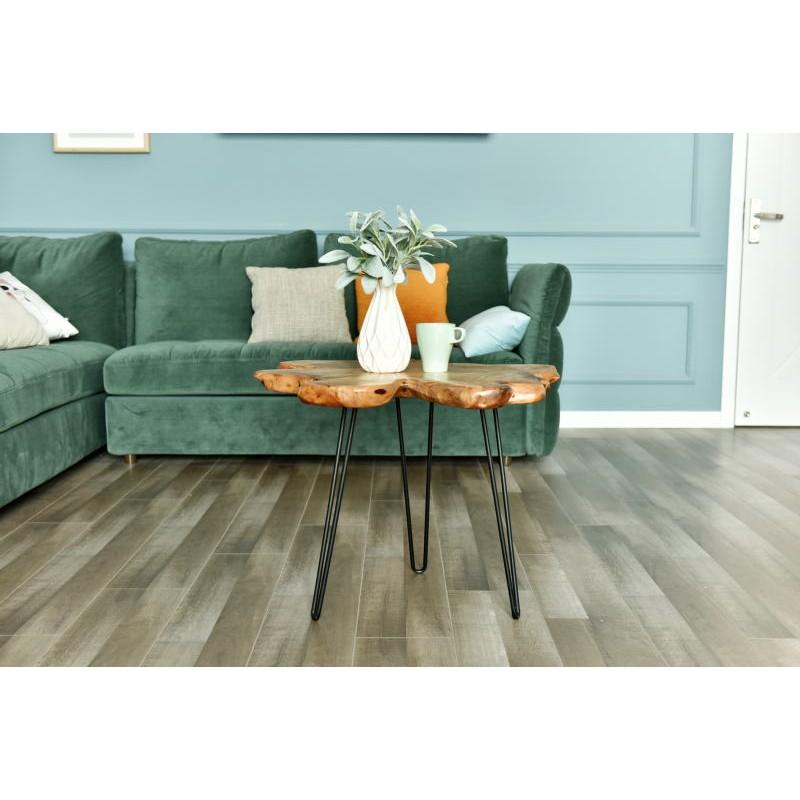 Fine tabella, tabella di estremità ALYSSA metallo e legno di cedro (naturale) - image 42721