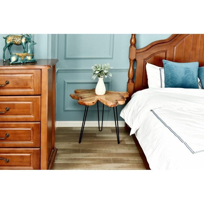 Fine tabella, tabella di estremità ALYSSA metallo e legno di cedro (naturale) - image 42723
