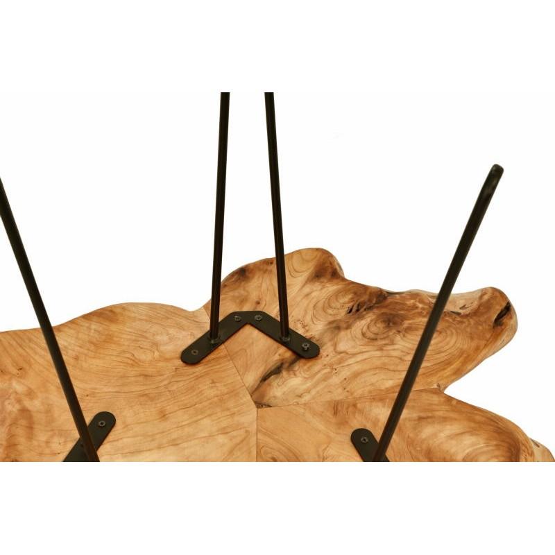 Beistelltisch, Beistelltisch ALYSSA Metall und Zeder Holz (Natur) - image 42724