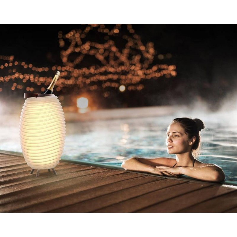 Lamp LED bucket champagne pregnant speaker bluetooth KOODUU synergy 50PRO (white) - image 42812