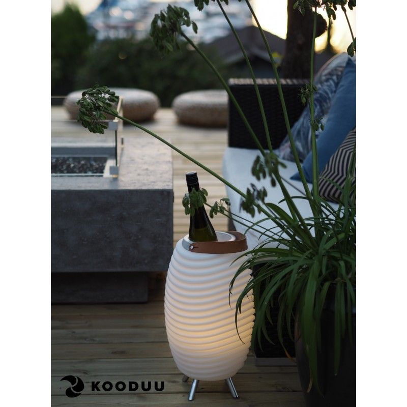 Lamp LED bucket champagne pregnant speaker bluetooth KOODUU synergy 35PRO (white) - image 42849