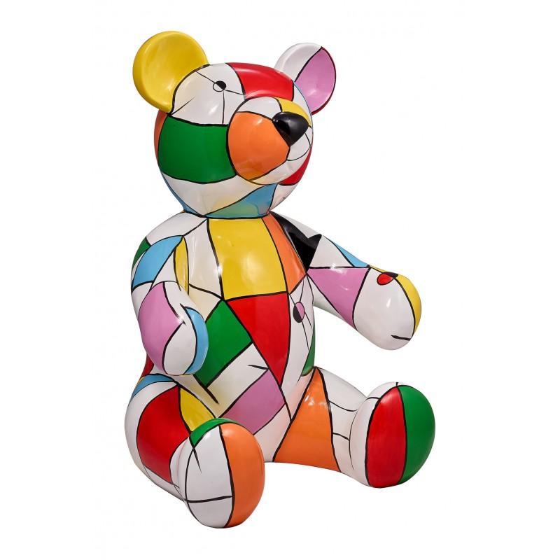 Statue sculpture decorative design Teddy bear resin H100 cm (multicolor) - image 42903