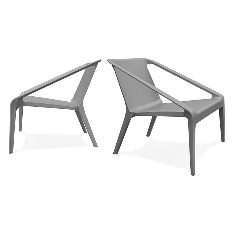 Fauteuil de jardin relax design SUNY (gris foncé) - image 42910