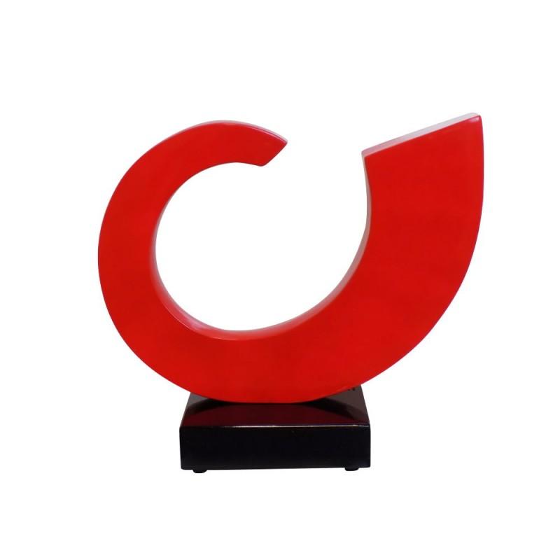 Statua disegno scultura decorativa incinta Bluetooth SUN in resina (rosso)