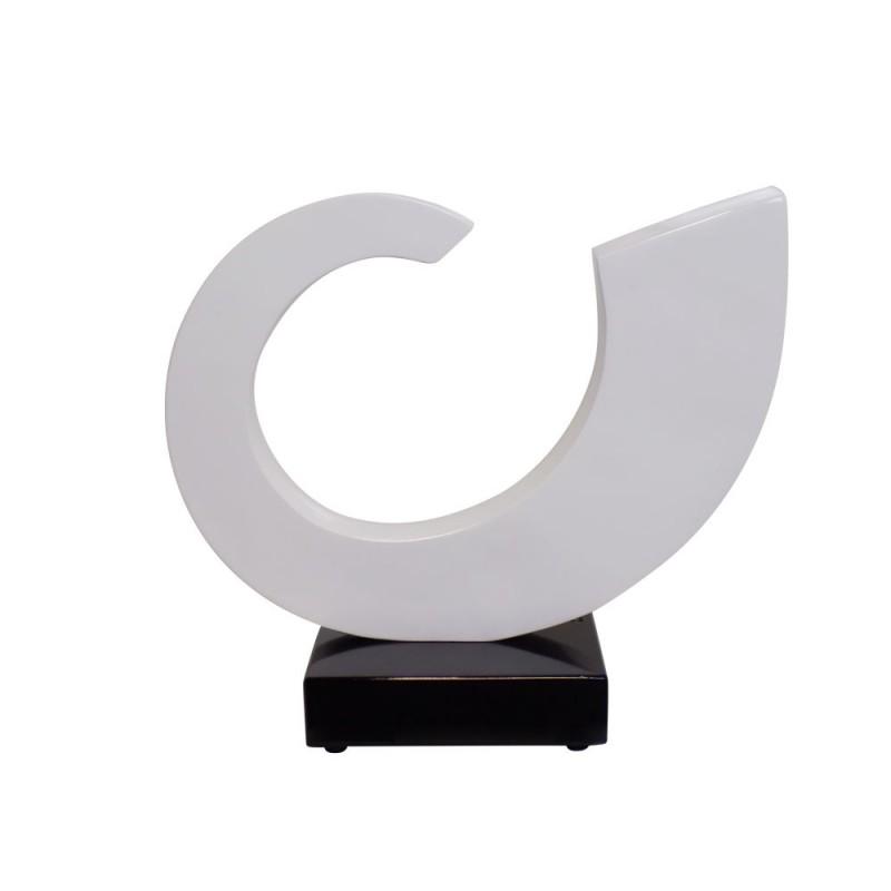 Statue decorative sculpture design pregnant Bluetooth SUN in resin (White)