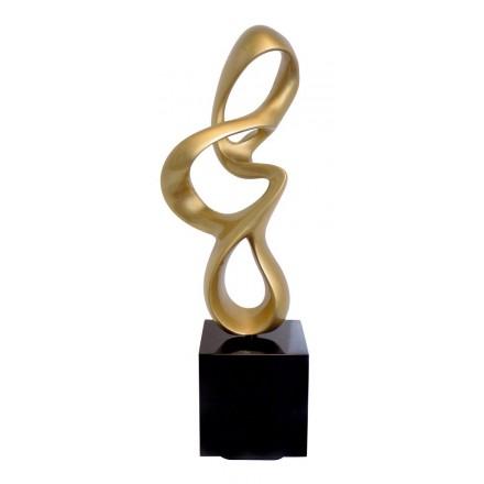 Statue sculpture décorative design enceinte Bluetooth MOVEMENT en résine (Doré)