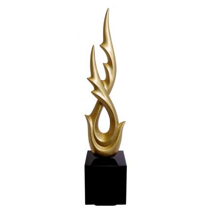 Statue sculpture décorative design enceinte Bluetooth DANCE WITH WING en résine (Doré)