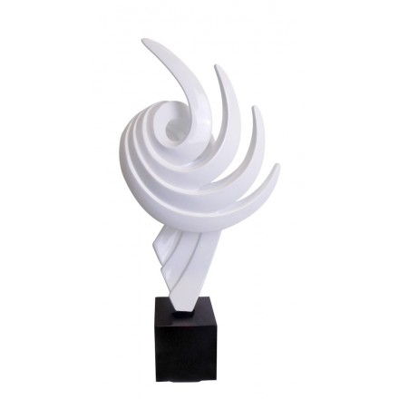 Statue decorative sculpture design pregnant Bluetooth THE PASTING in resin (White)
