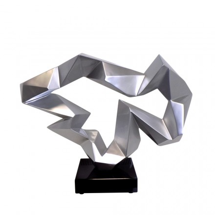 Statua disegno scultura decorativa incinta Bluetooth ICE FLOW in resina (argento)