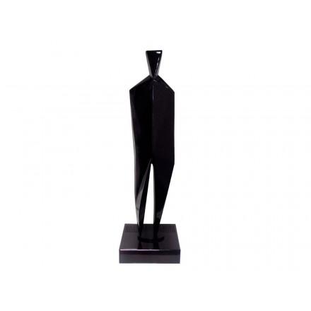 Statue decorative sculpture design pregnant Bluetooth HUMAN BODY in resin (Black)