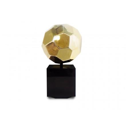 Statue decorative sculpture design pregnant Bluetooth BALLON in resin (Golden)