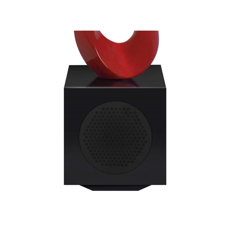 Statua disegno scultura decorativa incinta Bluetooth MUSICAL NOTE in resina (rosso) - image 43066