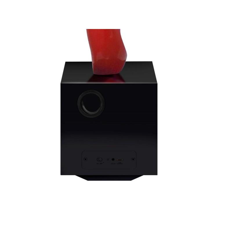 Statue sculpture décorative design enceinte Bluetooth MUSICAL NOTE en résine (Rouge) - image 43067