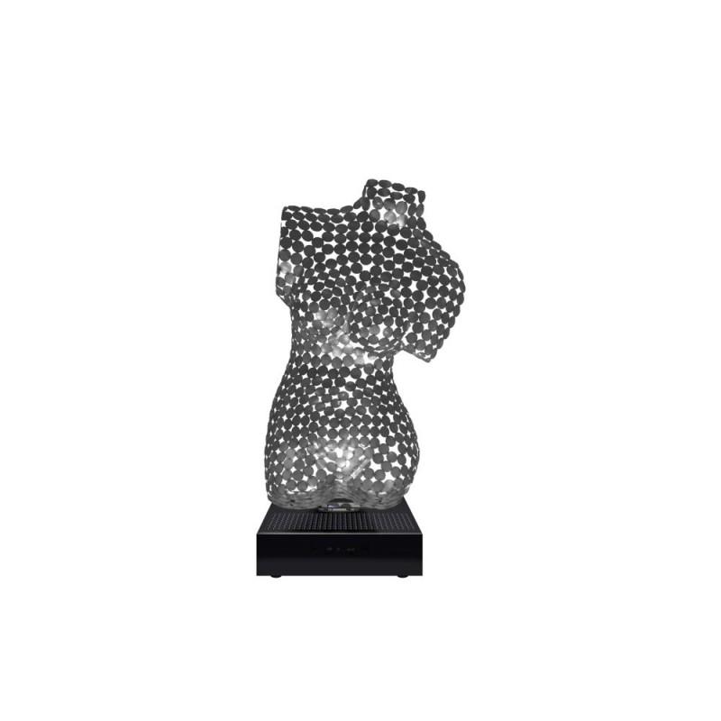 Statue decorative sculpture design pregnant Bluetooth BODY WOOMEN in Aluminium (Silver) - image 43085