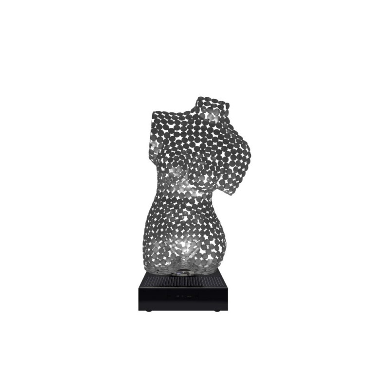 Statue dekorative Skulptur Design schwangere Bluetooth BODY WOOMEN in Aluminium (Silber) - image 43085