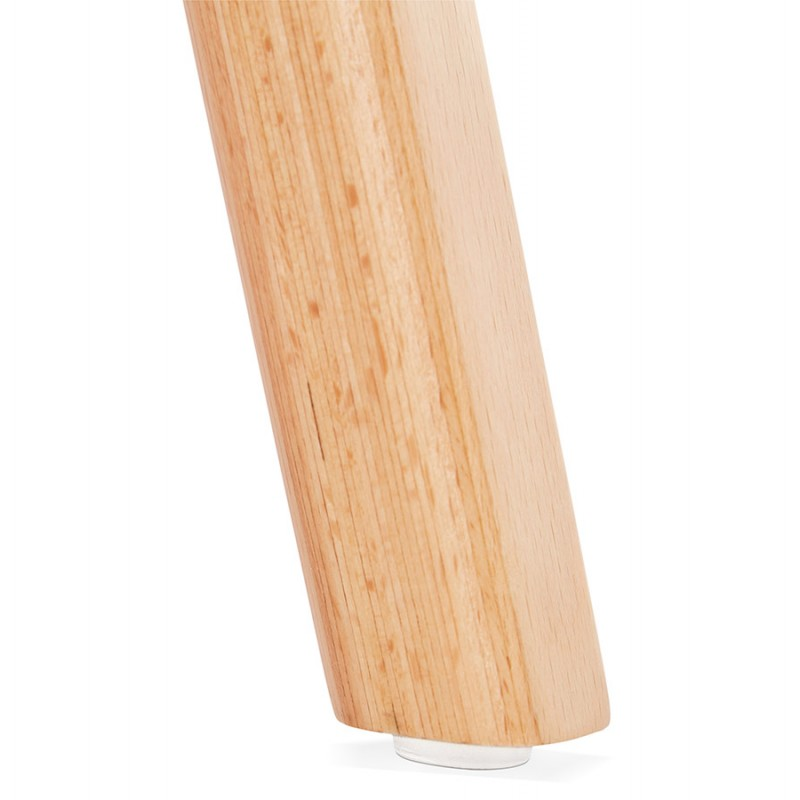 Chaise design scandinave avec accoudoirs CALLA en tissu pieds couleur naturelle (gris anthracite) - image 43118