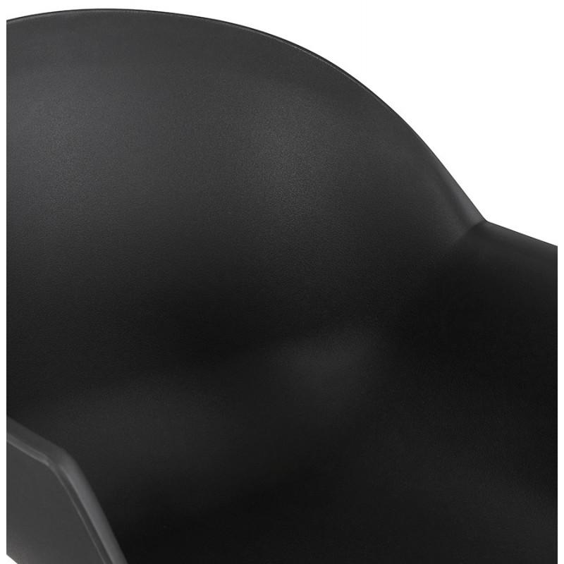 Chaise design scandinave avec accoudoirs COLZA en polypropylène (noir) - image 43155