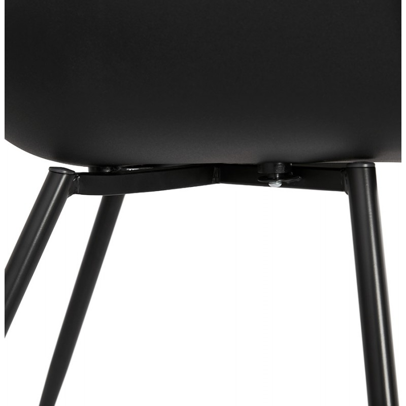 Scandinavian design chair with COLZA armrests in polypropylene (black) - image 43161