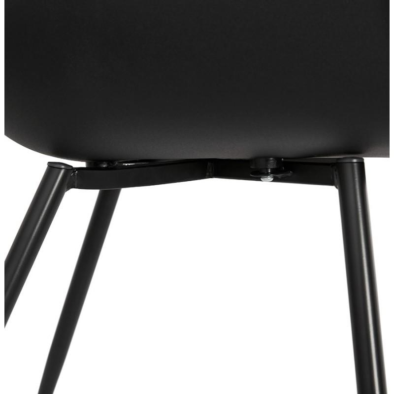 Chaise design scandinave avec accoudoirs COLZA en polypropylène (noir) - image 43161