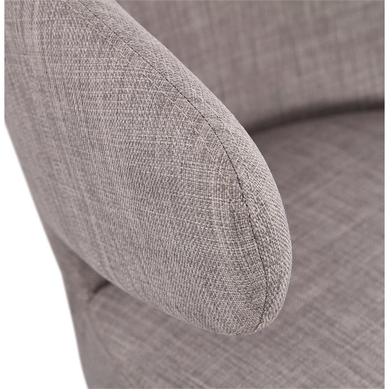Fauteuil design YASUO en tissu pieds bois couleur noire (gris clair) - image 43170