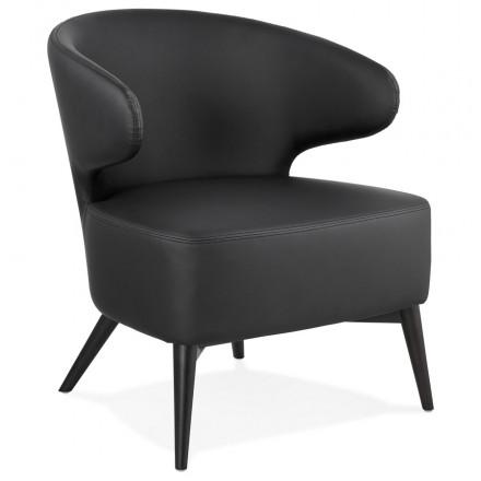 YASUO design chair in polyurethane feet black (black)