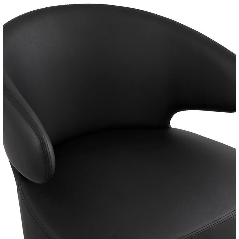 Fauteuil design  YASUO en polyuréthane pieds bois couleur noire (noir) - image 43180