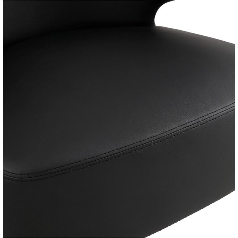 Fauteuil design  YASUO en polyuréthane pieds bois couleur noire (noir) - image 43181
