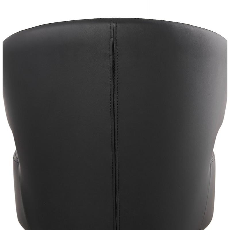 Fauteuil design  YASUO en polyuréthane pieds bois couleur noire (noir) - image 43185