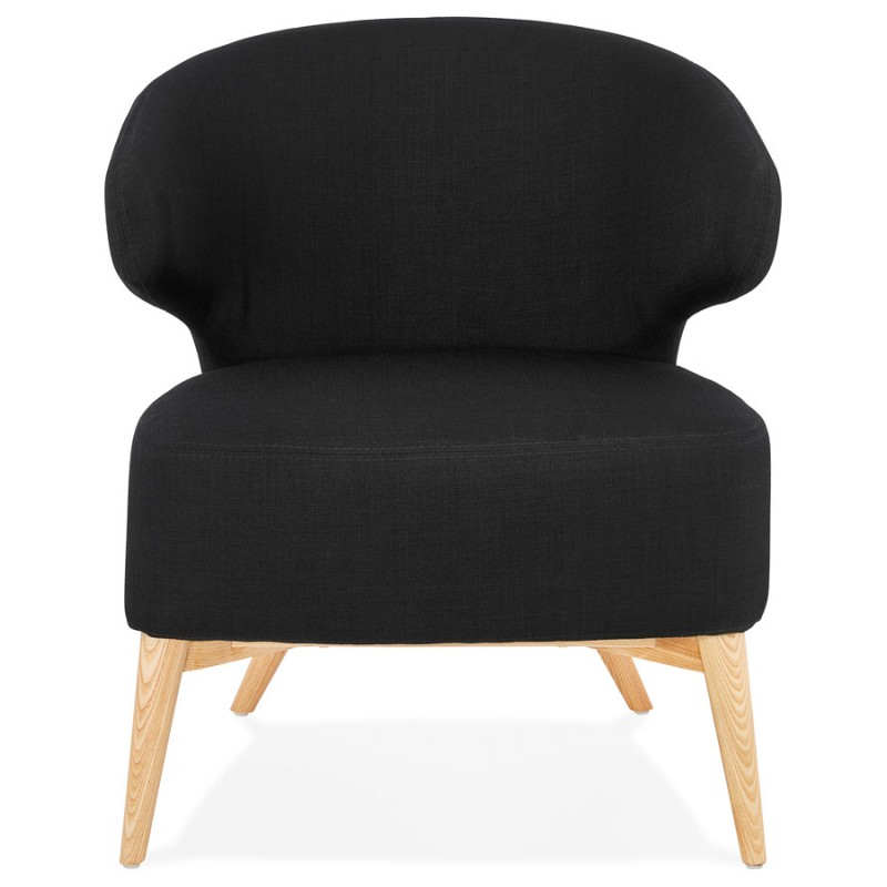 YASUO design chair in natural-coloured wooden footwear fabric (black) - image 43188