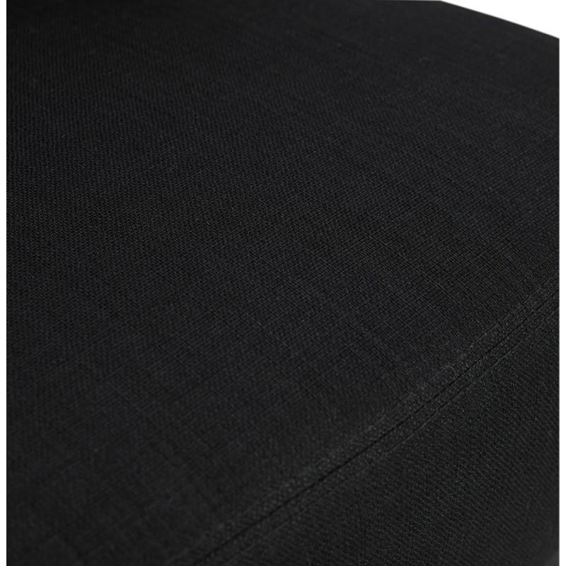 Fauteuil design YASUO en tissu pieds bois couleur naturelle (noir) - image 43195