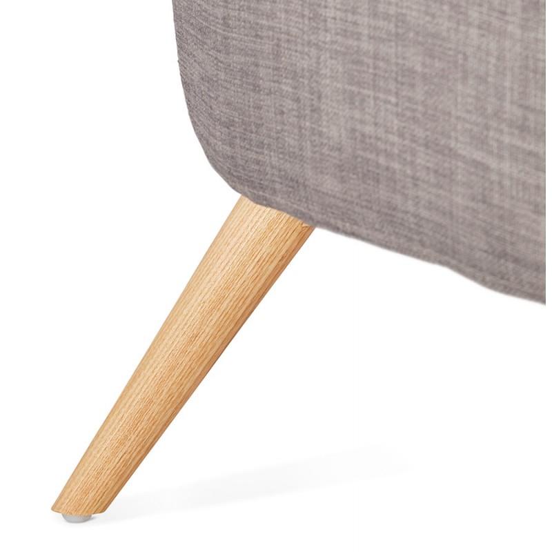 Fauteuil design YASUO en tissu pieds bois couleur naturelle (gris clair) - image 43210