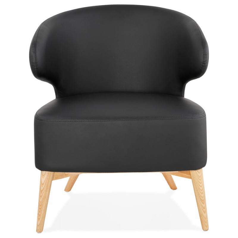 YASUO design chair in polyurethane feet wood natural color (black) - image 43212