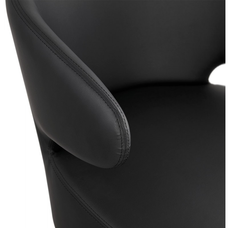YASUO design chair in polyurethane feet wood natural color (black) - image 43219