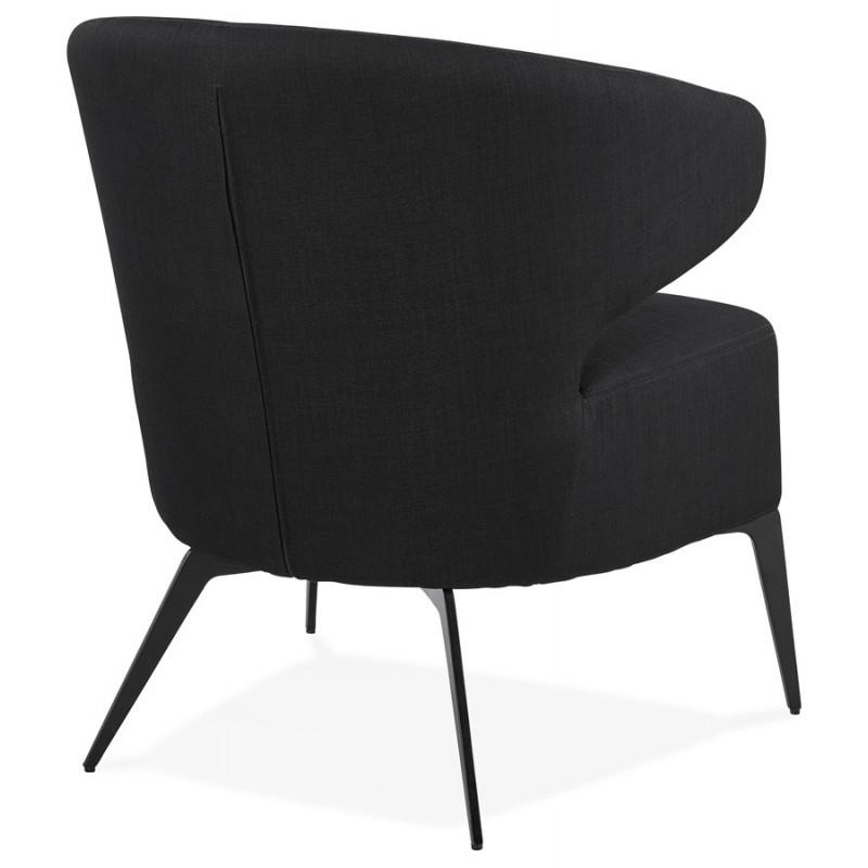 Fauteuil design YASUO en tissu pieds métal couleur noire (noir) - image 43227