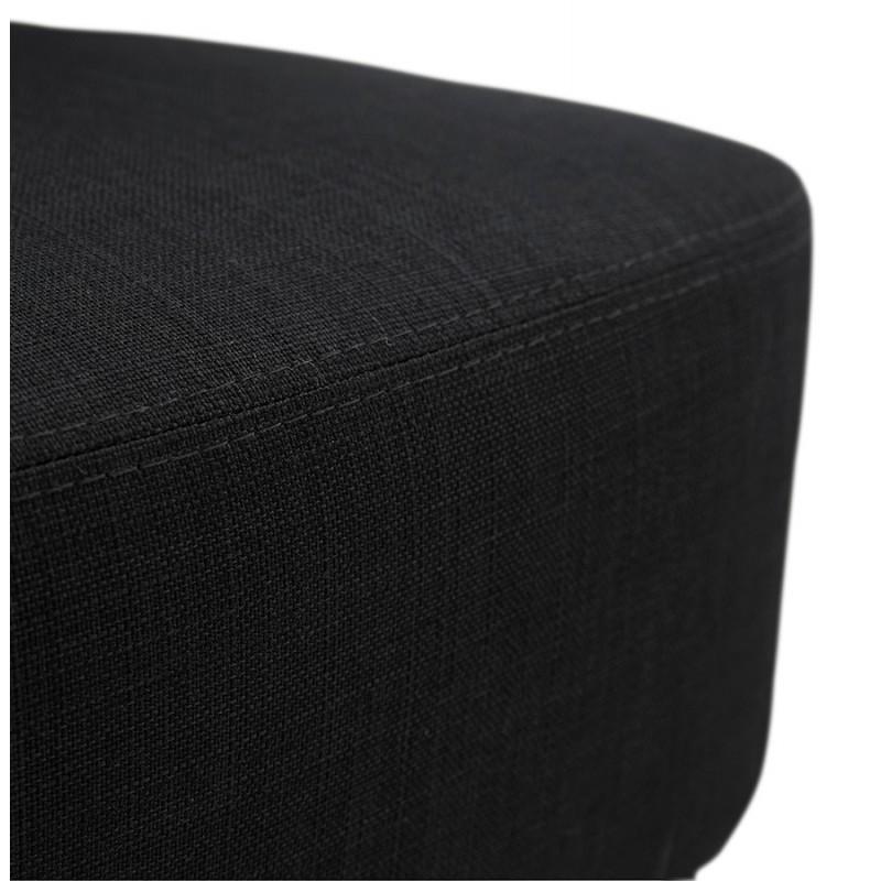 Silla de diseño YASUO en tejido de pie de metal negro (negro) - image 43230