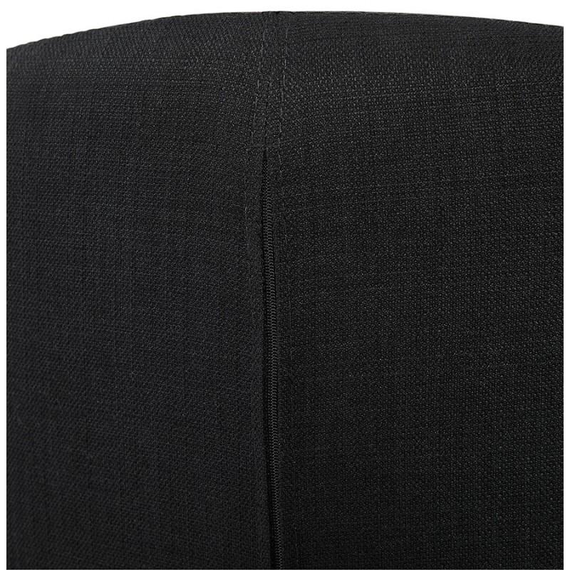 Silla de diseño YASUO en tejido de pie de metal negro (negro) - image 43233