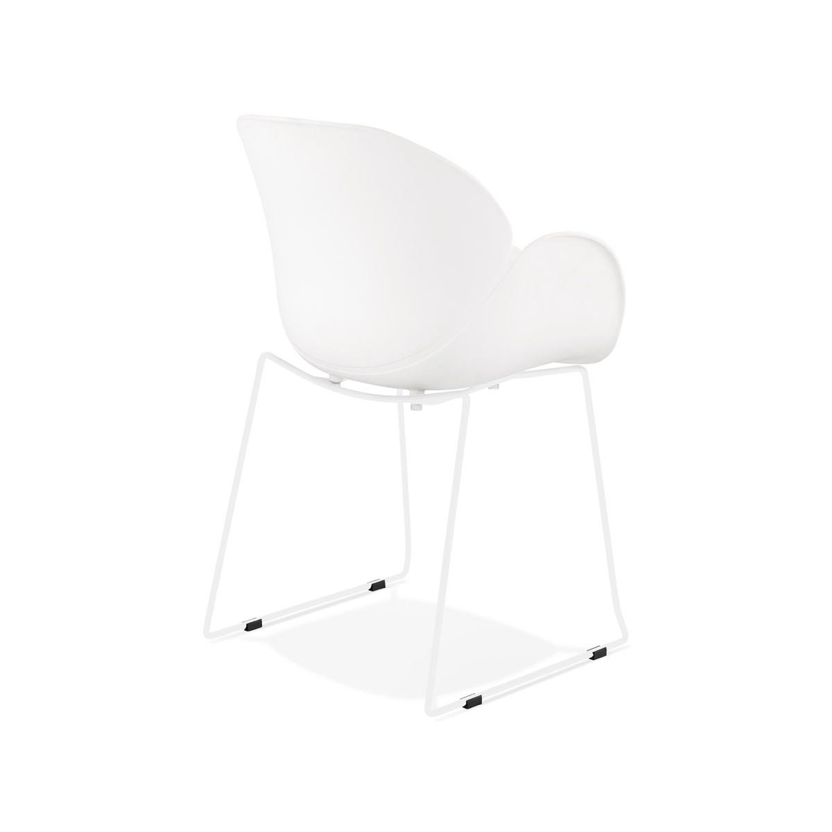 Chaise design CIRSE en polypropylène pieds métal couleur blanche (blanc) -  AMP Story 6