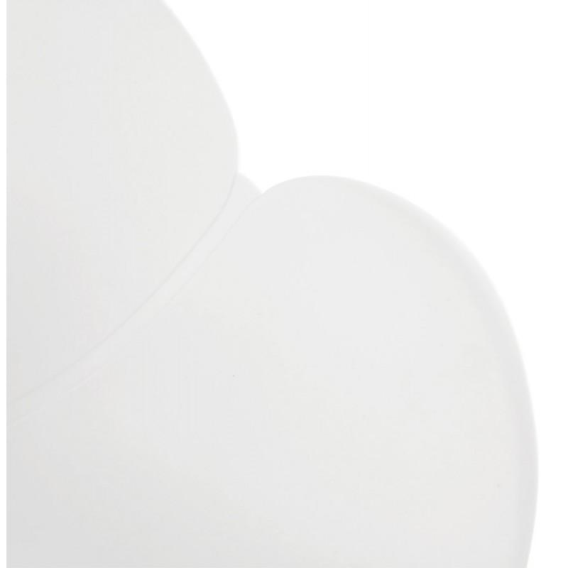 Chaise design CIRSE en polypropylène pieds métal couleur blanche (blanc) - image 43265