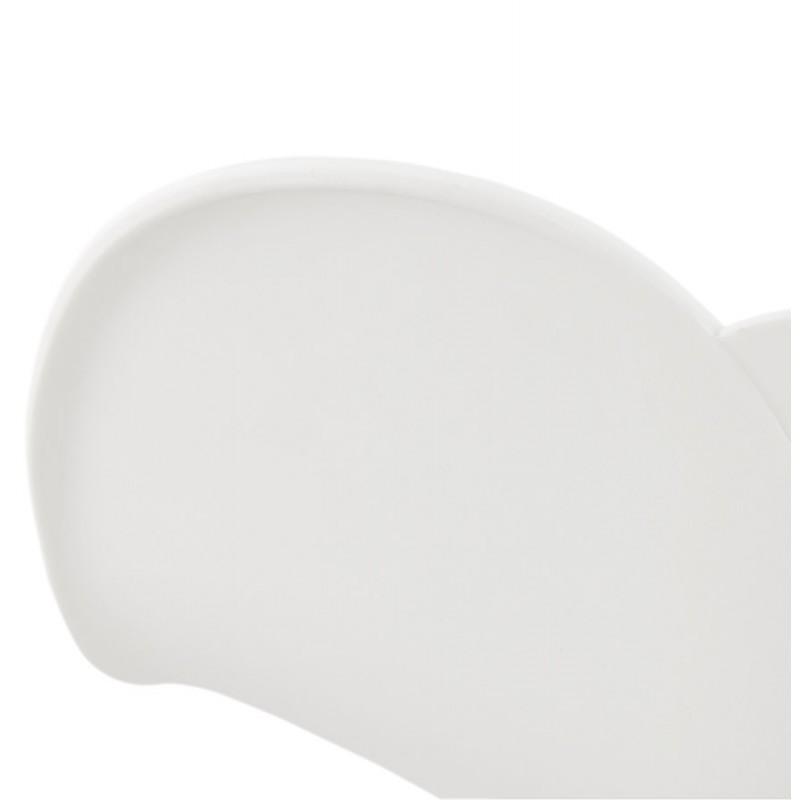 Chaise design CIRSE en polypropylène pieds métal couleur blanche (blanc) - image 43267