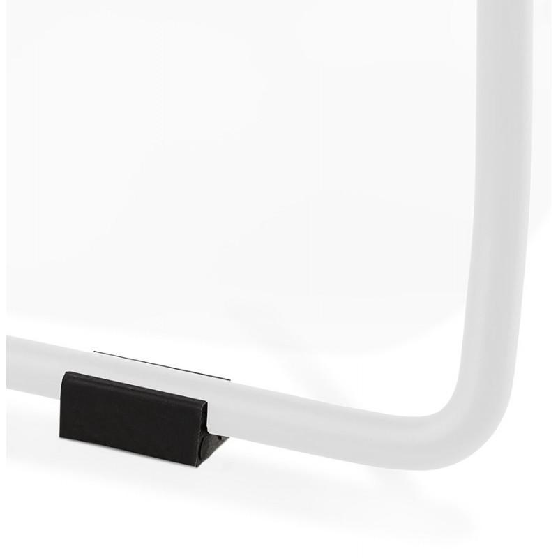 Chaise design CIRSE en polypropylène pieds métal couleur blanche (blanc) - image 43270