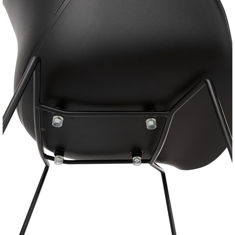 CIRSE design chair in polypropylene black metal feet (black) - image 43280