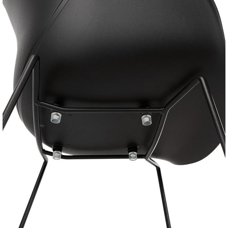 Chaise design CIRSE en polypropylène pieds métal couleur noire (noir) - image 43280