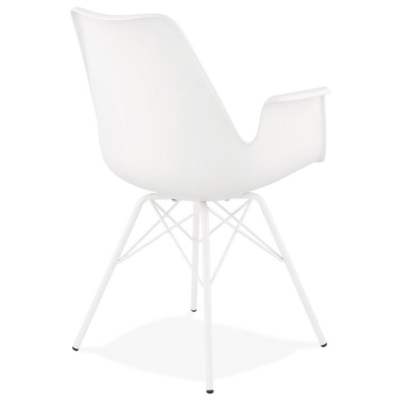 Chaise design industrielle avec accoudoirs ORCHIS en polypropylène (blanc) - image 43309